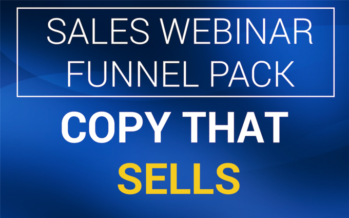 Big copy that sells sales webinar funnel pack