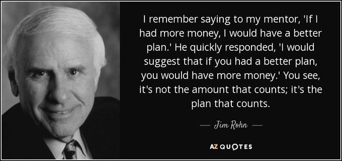 Big quote i remember saying to my mentor if i had more money i would have a better plan he quickly jim rohn 81 53 83