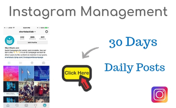 Small instagram manage