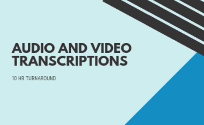 Big audio and video transcriptions