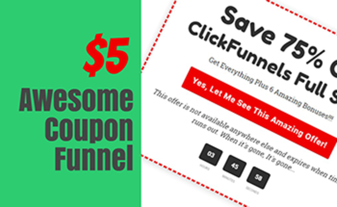 Big awesome coupon funnel