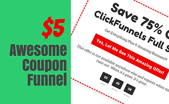 Small awesome coupon funnel