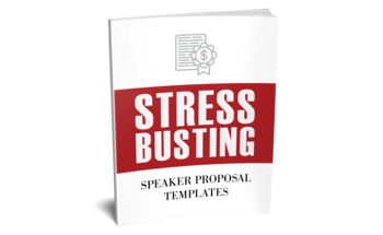 Small stress busting speaker proposal templates