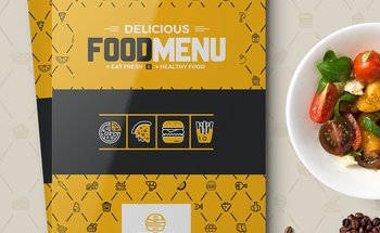 Small 30 food menu front cover page