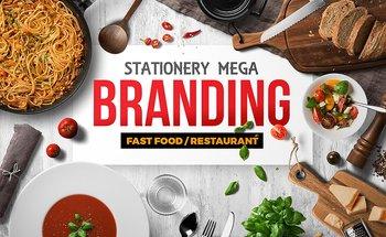 Small fast food mega branding identity