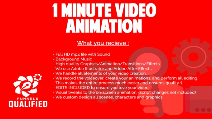 Big 1 minute video animation