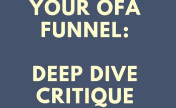 Small your ofa deep dive critique
