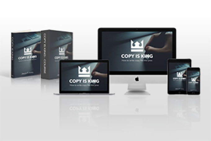 Big copy is king multi device mockup