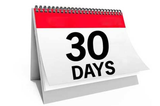 Big 30 days