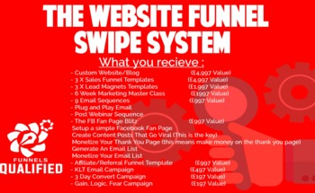 Small website funnel swipe system