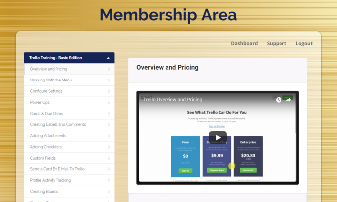 Big membership area