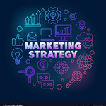 Medium marketing strategy colorful in vector 21566452