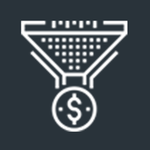 Medium profit funnels icon