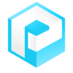 Medium icon logo blue